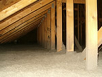 Attic insulation before